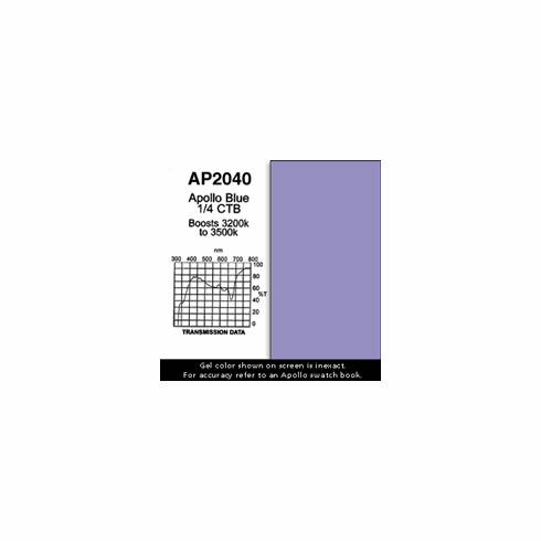 "Apollo 2040 - Blue 1/4 CTB - Ten 20"" x 24"" Sheets"