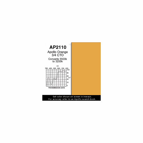 "Apollo 2110 - Orange 3/4 CTO - Ten 20"" x 24"" Sheets"