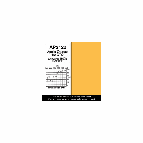 "Apollo 2120 - Orange 1/2 CTO - Ten 20"" x 24"" Sheets"