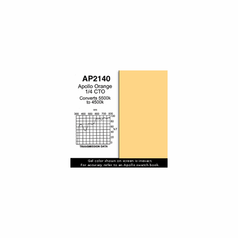 "Apollo 2140 - Orange 1/4 CTO - Ten 20"" x 24"" Sheets"