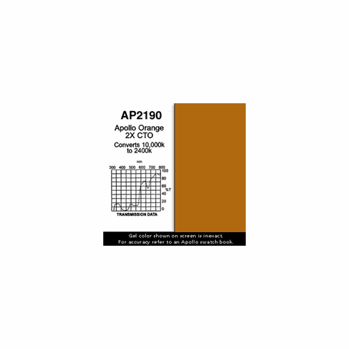 "Apollo 2190 - Orange 2X CTO - Ten 20"" x 24"" Sheets"