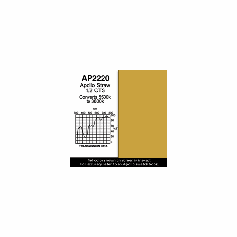 "Apollo 2220 - Straw 1/2 CTS - Ten 20"" x 24"" Sheets"