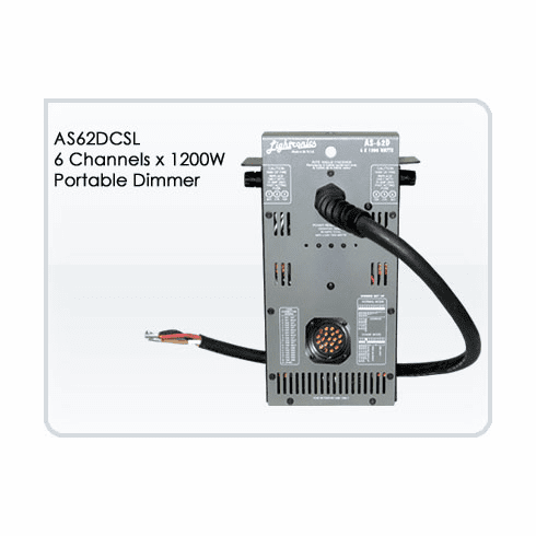 AS62DCSL 6 Channel x 1200W Portable Dimmer