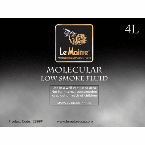 Molecular Low Lying Fog Fluid - Case of Four 4L Bottles