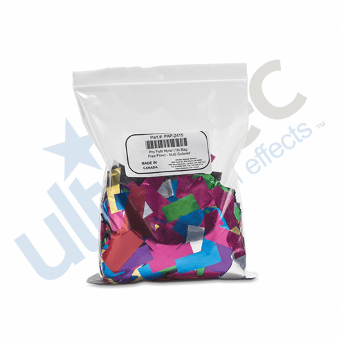 Pro Fetti (25lb Bags of Free Flow Metallic PVC) - Choice of 13 Colors