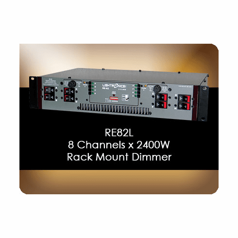 RE82L 8 Channel x 2400W Rack Mount Dimmer