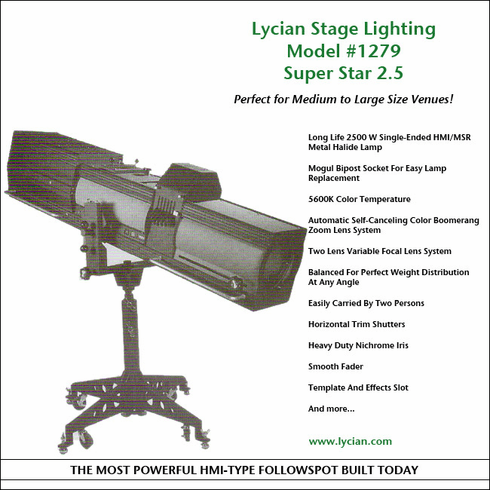 Super Star 2.5 Spotlight - Model 1279