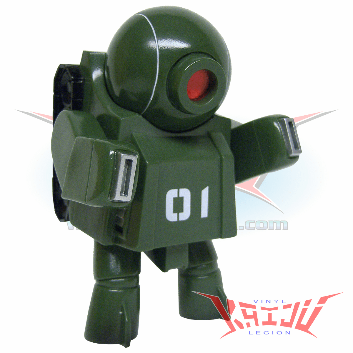 """Rumble Monsters """"Army One"""" Robot Seven Soft Vinyl Figure"""