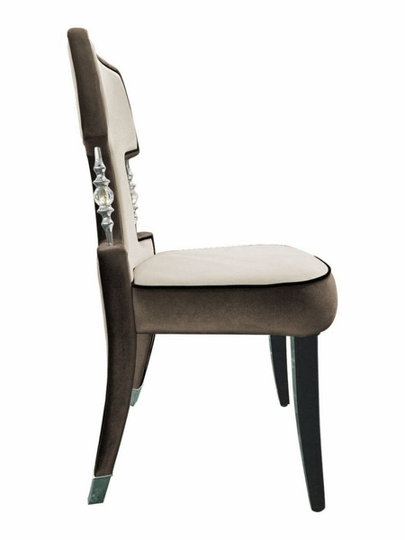 A&X Alston 2 Off-White Brown Chenille Side Chairs by VIG Furniture