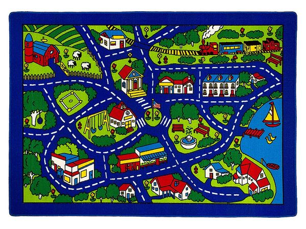 Abbey Multicolor Kids Medium Area Rug by Furniture of America