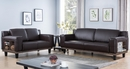 Abigail Coffee Faux Leather 2-Seat Sofa by ID USA