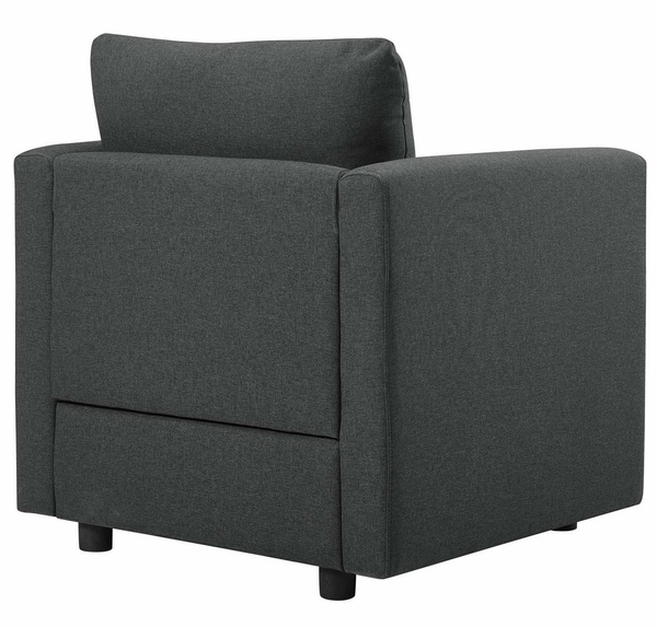 Activate 2-Pc Gray Fabric Sofa Set by Modway