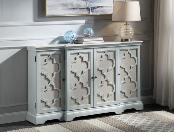 Adelle Light Teal Wood Console Table by Acme