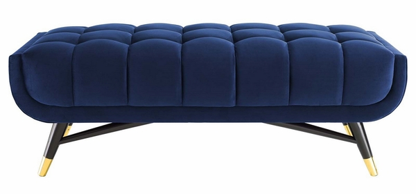 """Adept Midnight Blue Performance Velvet Tufted 47.5"""" Bench by Modway"""