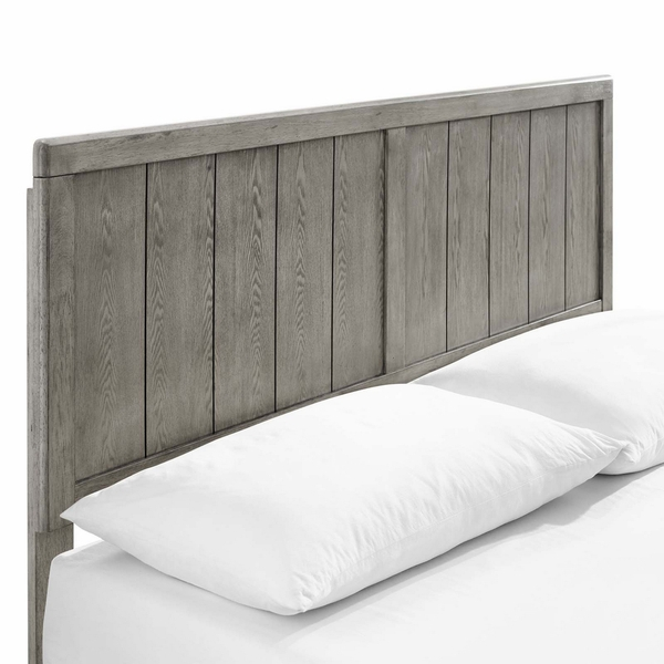 Alana Gray Wood King Platform Bed with Splayed Legs by Modway