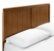 Alana Walnut Wood Queen Platform Bed with Splayed Legs by Modway