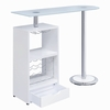 Alessia Contemporary Glossy White Wood Bar Unit by Coaster