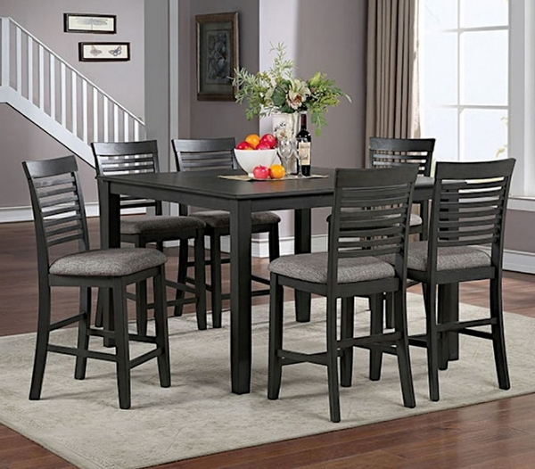 Amalia Gray Wood Square Counter Height Table by Furniture of America