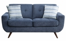 Amberley Blue Textured Fabric Loveseat by Homelegance