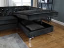 Amberly 2-Pc Black Fabric RAF Sectional Sofa by Best Quality Furniture