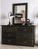 Ampelios Wire-Brushed Black Wood Dresser by Furniture of America