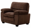 Andres 3-Pc Brown Plush Velvet Sofa Set by AC Pacific