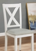 Anya 7-Pc White/Gray Wood Dining Table Set by Furniture of America