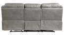 Aram Gray Breathable Faux Leather Manual Recliner Sofa by Homelegance