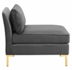 Ardent 6-Pc Gray Performance Velvet Modular Sectional Sofa by Modway
