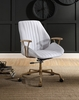 Argrio Vintage White Top Grain Leather Office Chair by Acme