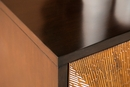 Armina Brown/Antique Gold 4-Door Accent Cabinet by Coaster