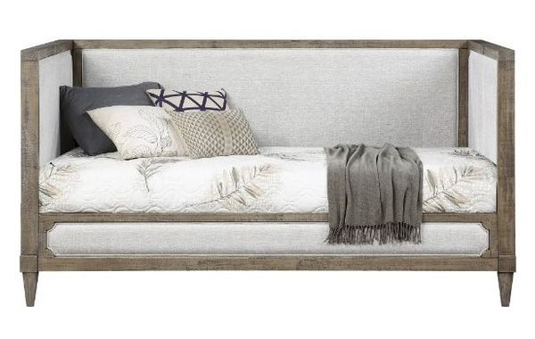 Artesia Tan Linen/Salvaged Natural Wood Twin Daybed by Acme