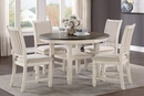 Asher Brown/Antique White Wood Dining Table by Homelegance