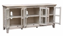 Athena White Solid New Zealand Pine TV Stand by Vilo Home