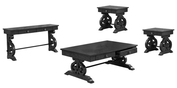 Audrea 4-Pc Dark Gray Wood Table Set by Best Quality Furniture