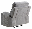 Aulada Gray Fabric Glider Manual Recliner with Cupholders by Acme