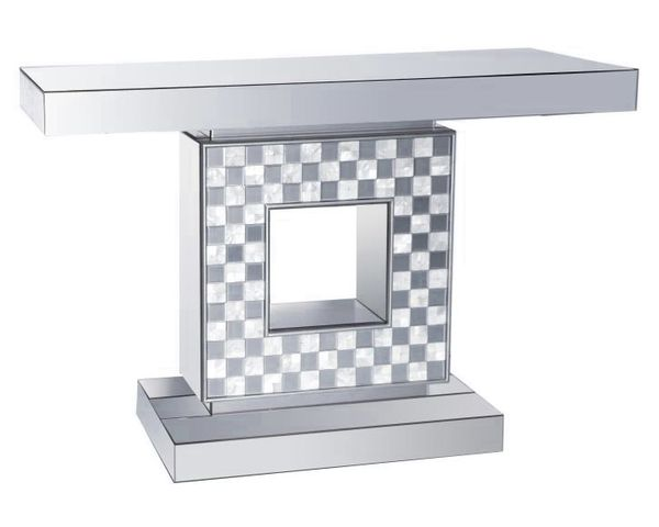 Averie Checkerboard Mother of Pearl Pattern Accent Table by Coaster
