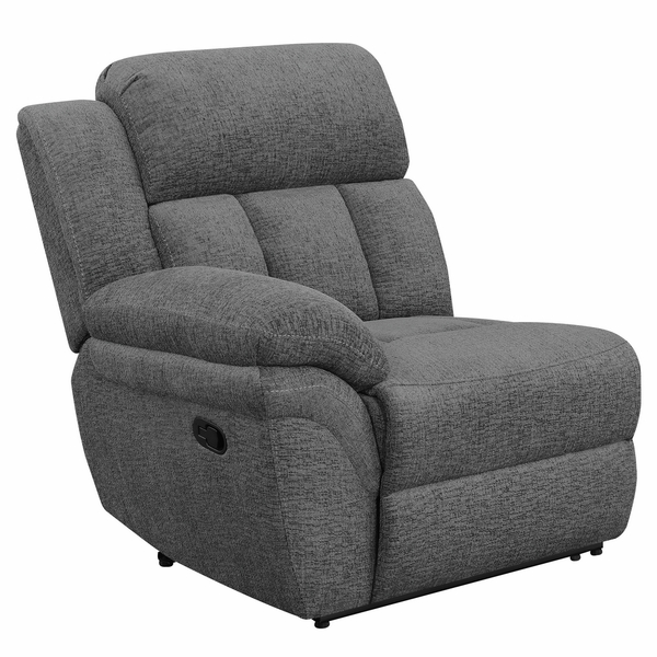 Bahrain 3-Pc Charcoal Chenille Manual Recliner Sofa by Coaster