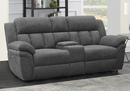 Bahrain 3-Pc Charcoal Chenille Power Recliner Loveseat by Coaster
