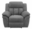 Bahrain Charcoal Chenille Manual Glider Recliner by Coaster