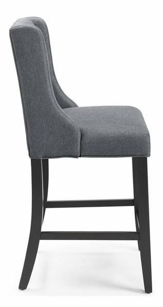 Baronet Gray Fabric/Wood Counter Height Chair by Modway