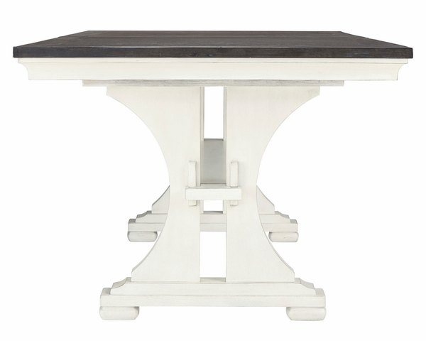 Benchcraft Nashbryn Two-Tone Wood Extendable Dining Table by Ashley