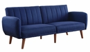 Bernstein Blue Linen Channel Tufted Adjustable Sofa Bed by Acme