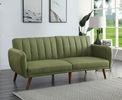 Bernstein Green Linen Channel Tufted Adjustable Sofa Bed by Acme