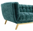 Bestow Teal Crushed Performance Velvet Loveseat by Modway