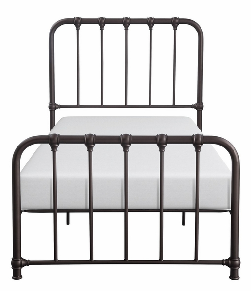 Bethany Dark Bronze Metal Twin Bed by Homelegance