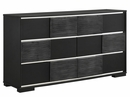 Blacktoft Contemporary 4-Pc Black Wood Queen Panel Bed Set by Coaster