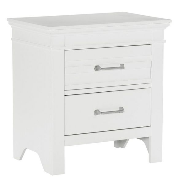 Blaire White Wood 2-Drawer Nightstand by Homelegance
