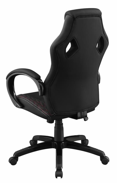 Braelynn Black Leatherette Adjustable Office Chair by Coaster
