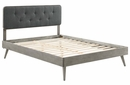 Bridgette Gray Wood/Charcoal Fabric King Bed w/ Splayed Legs by Modway